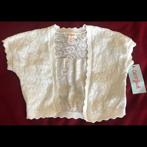 Cat & Jack Toddler White Cardigan size 5T